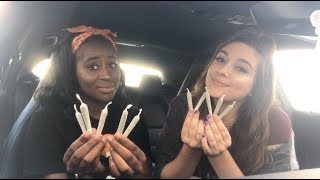 CAR HOTBOX WITH 10 JOINTS!!!!!