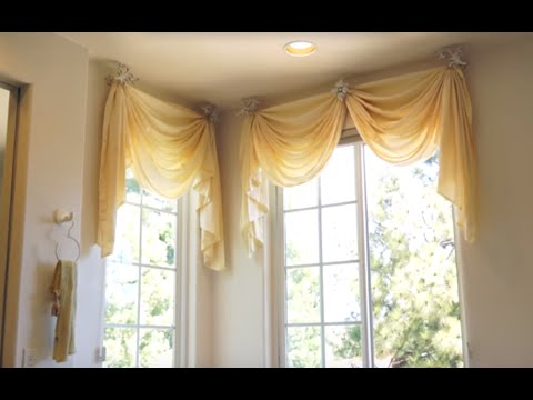 Bathroom window curtains bathroom decorating ideas for the master bath galaxy design video Bathroom valances for windows
