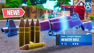 "NEW ""INFANTRY RIFLE"" Gameplay! // Pro Console Player // 1800+ Wins (Fortnite Battle Royale LIVE)"