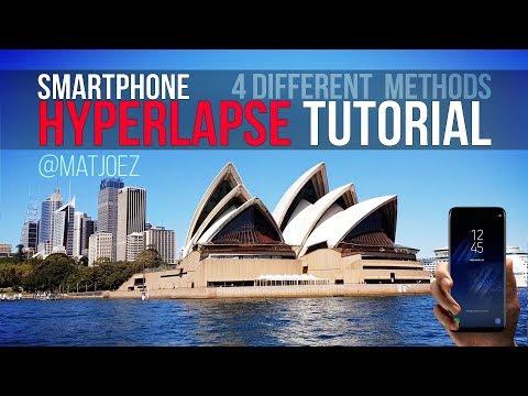 Smartphone hyperlapse tutorial