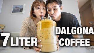 MAKING 7 LITER DALGONA COFFEE AT HOME! | TIK TOK TRENDING DALGONA COFFEE