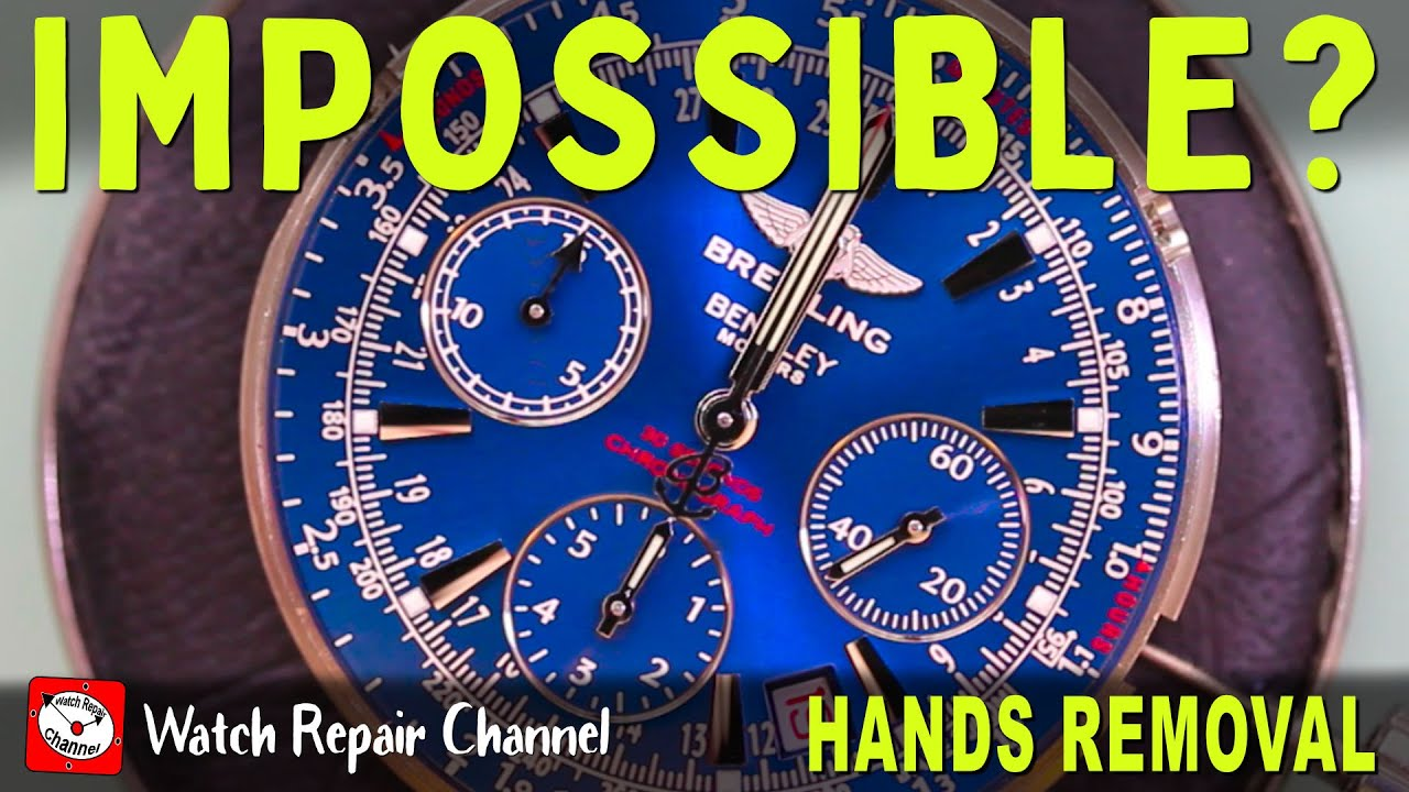 Removing Impossible To Remove Hands - Horotec Hand Removal Tool Review & Tutorial - 05.125 05.120