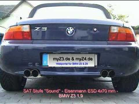 Bmw Z3 Eisenmann 4x70mm Exhaust Youtube