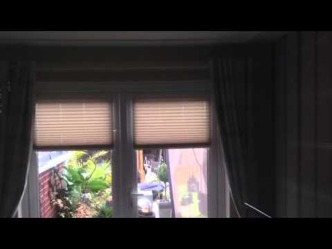 Pleated Blinds on French Doors in Penkridge