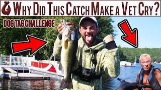 Dog Tag Fishing Challenge!! Catches Record Bass!!