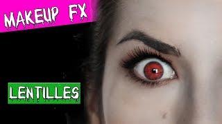 Comment mettre des lentilles fantaisie facilement halloween tutoriel