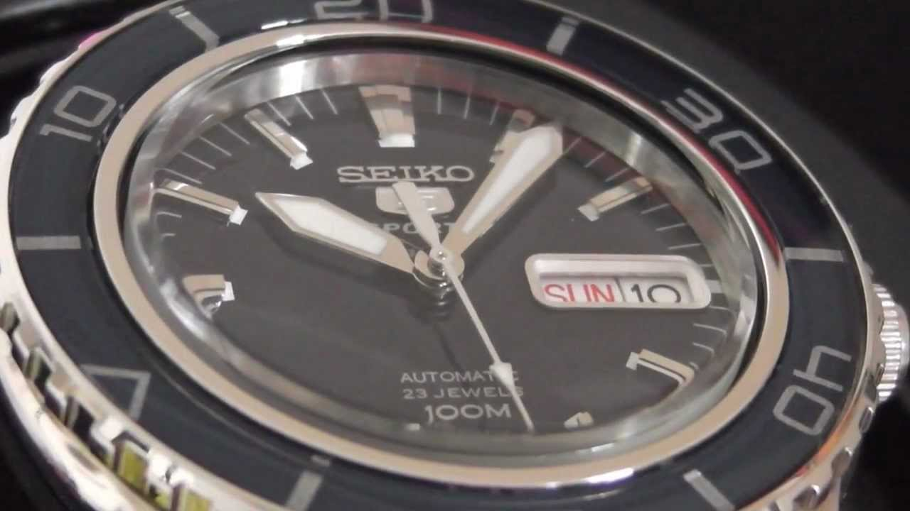 2s time seiko automatic sports snzh53 100m diver mens