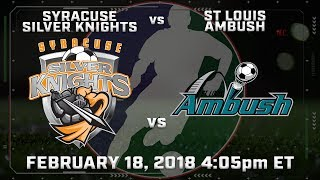 Syracuse Silver Knights vs St Louis Ambush