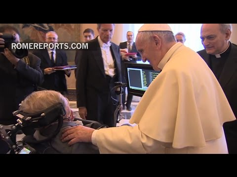 Pope speaks on climate change to Stephen Hawking and other scientists