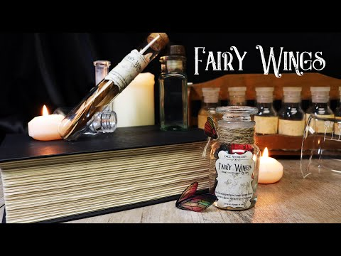 Fairy Wings : Harry Potter Potions : DIY Potion Ingredient Bottle : Potion Prop