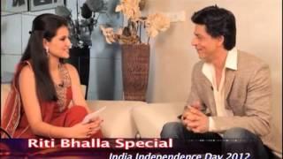Riti Bhalla Special - Shah Rukh Khan and Sunita Williams