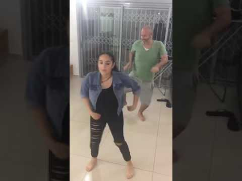 Padre e hija bailando Watch Me- Dad and daughter dancing Watch Me