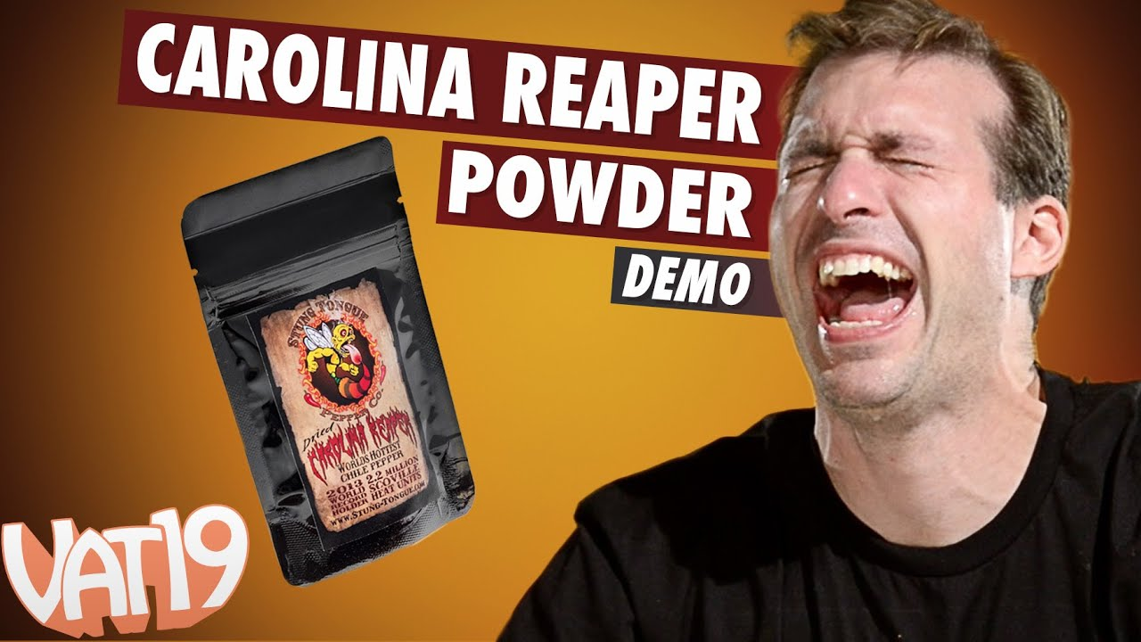 Man tries the tiniest amount of Carolina Reaper Powder - as the title says