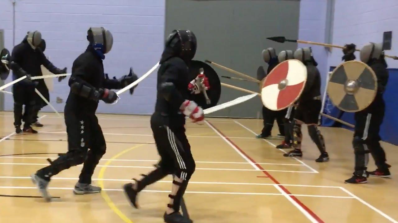 Melee Combat! Spear vs Sword