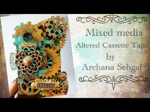 Mixed Media Altered Cassette