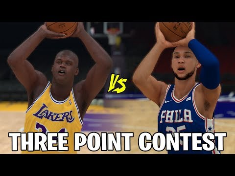 Ben Simmons vs Shaquille O'Neal In A Three Point Contest! Who Is Worse? | NBA 2K19