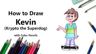 How to Draw a Kevin from Krypto the Superdog with Color Pencils [Time Lapse]