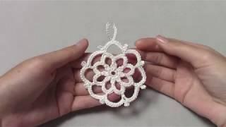 Маленькая снежинка крючком для начинающих/crochet snowflake