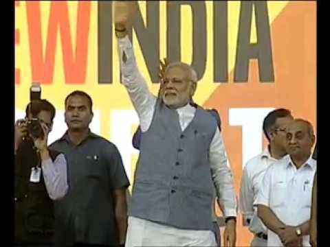 PM Modi at the Run for New India Marathon