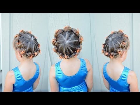 Spider Web Hairstyle Tutorial For Halloween Or Crazy Hair Day Using Spider Rings