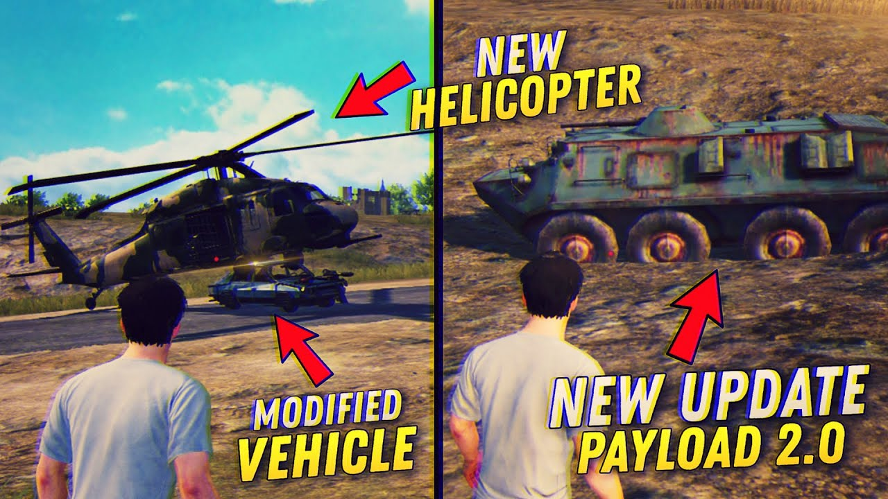 PUBG Mobile New Update 1.1.0 Version | New Payload 2.0 Mode, Modified Vehicles & More