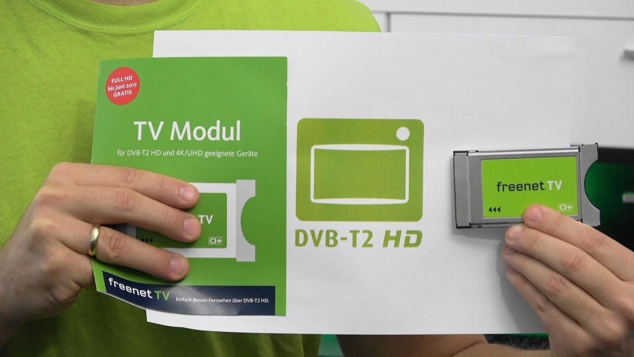 Ci Modul Fur Freenet Tv Dvb T2 Hd Private Hd Sender Uber Antenne Youtube