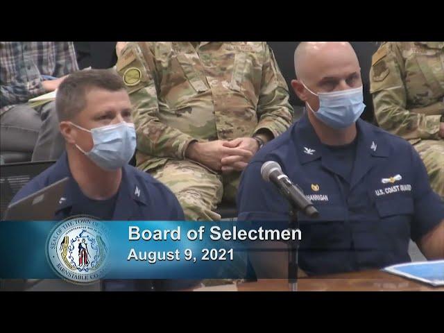 Board of Selectmen 8-9-21