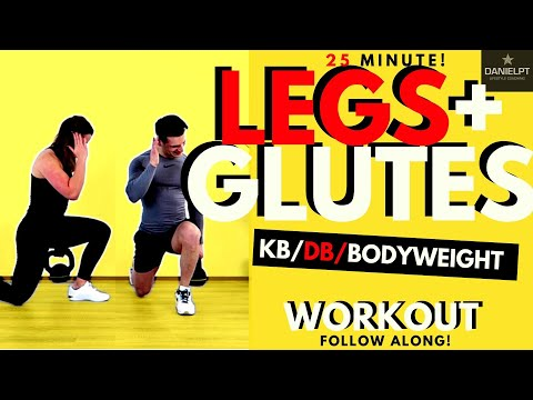 25 min Glute and legs workout HIIT workout | Kettlebell Leg Workout | Leg and Butt Workout |DANIELPT