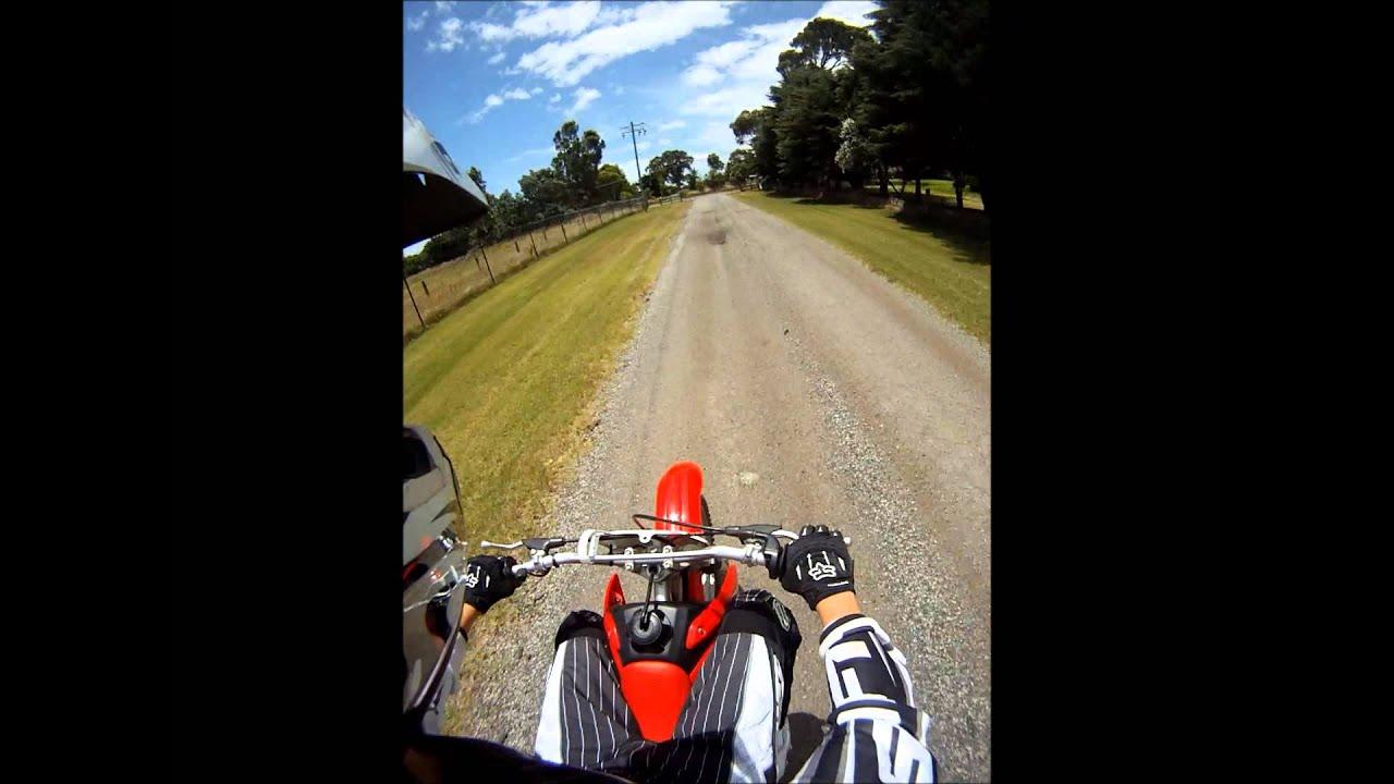 Honda CRF 100F Top Speed Go Pro - YouTube