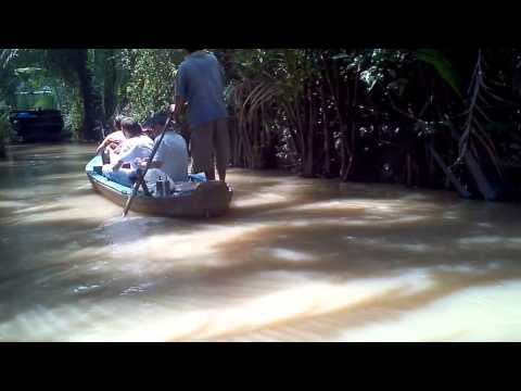 Rowing boat in My Tho Ben Tre , Mekong delta tour , ...