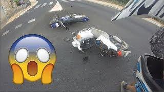 Mon accident de moto : Un scooter me fonce dessus à pleine vitesse ( CRASH 50cc )