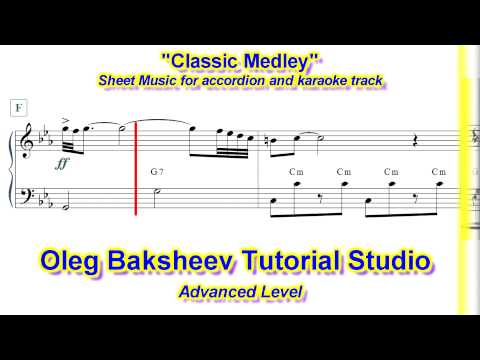 Classic Medley  Accordion Sheet Music Review Advanced Level