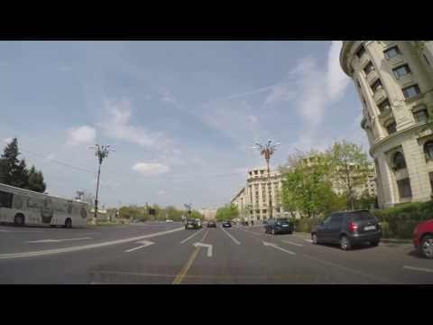 Driving around Palace of Parliament Romania 4K