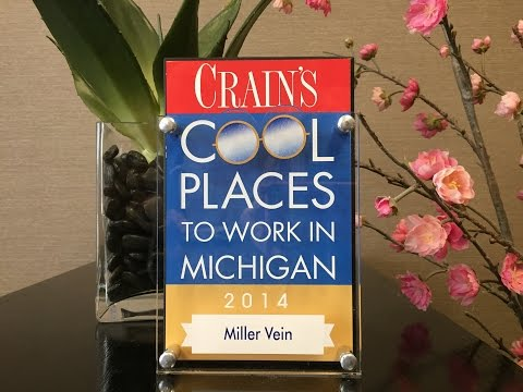 "Miller Vein Named ""Cool Place to Work in Michigan"" by Crain's Detroit Business"