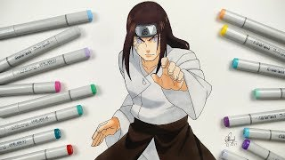 How To Draw Neji Hyuga - Step By Step (Tutorial) - Naruto Shippuden