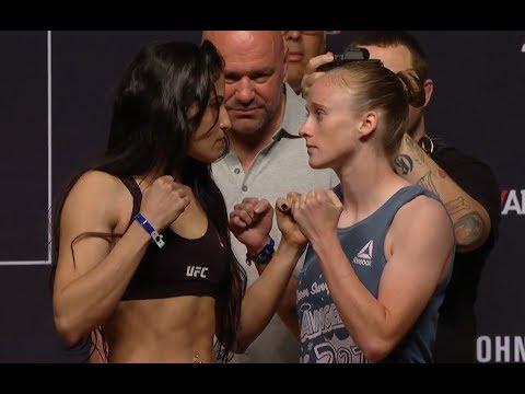 Polyana Viana vs. JJ Aldrich - Weigh-in Face-Off - (UFC 227: Dillashaw vs. Garbrandt 2) - /r/WMMA