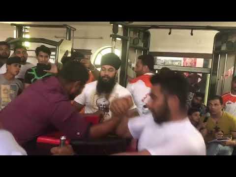 Gulab singh arm wrestling match at haryana state