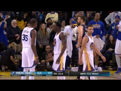 Memphis Grizzlies unreal comeback vs Golden State Warriors NBA Season 2016-17