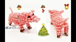 Объемная Свинка из Бисера для Начинающих Мастер Класс! Животные из Бисера/ Bulky Pig Bead!