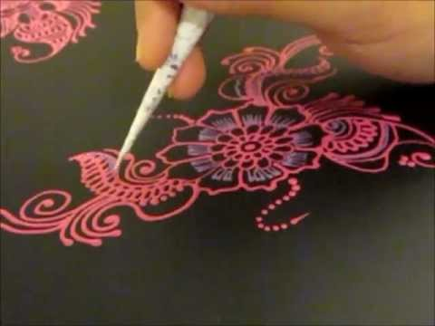 Mehndi For The Inspired Artist : Arabic henna design inspired folder glitz youtube
