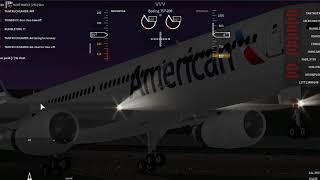 Roblox, Flight Line American airline B757-200 flight.