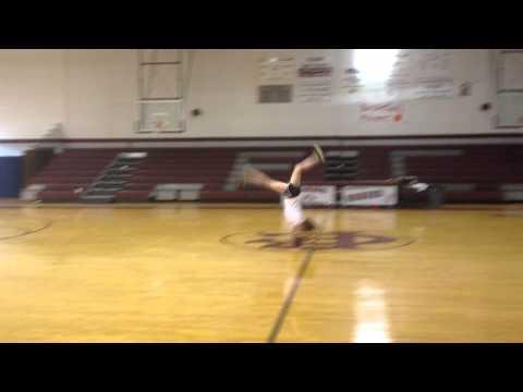 FCAHS Cheerleader replicates William Carey flip-basketball shot!