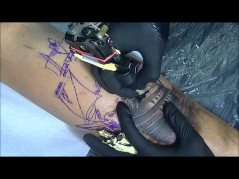 Pirate ship tattoo - time lapse