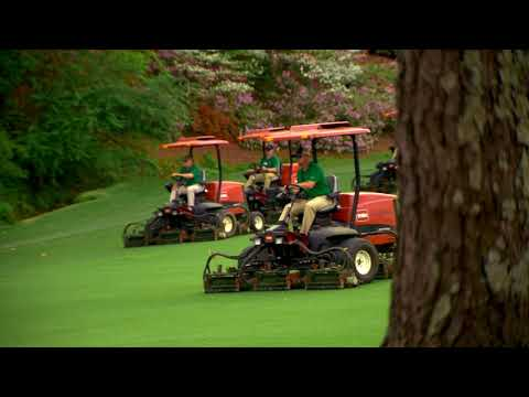 Mower Ballet at Augusta National