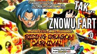 LR TRUNKS MAI SUMMON 100 DS RISING DRAGON CARNIVAL SSR DOUBLE 20% LR   Dragon Ball Z Dokkan Battle
