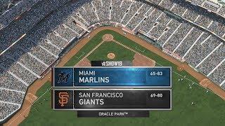 MLB The Show 19 (Miami Marlins Season) Game #149 - MIA @ SF