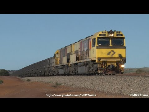 Heavy Aurizon Narrow Gauge Ore Trains (Geraldton July 2017)