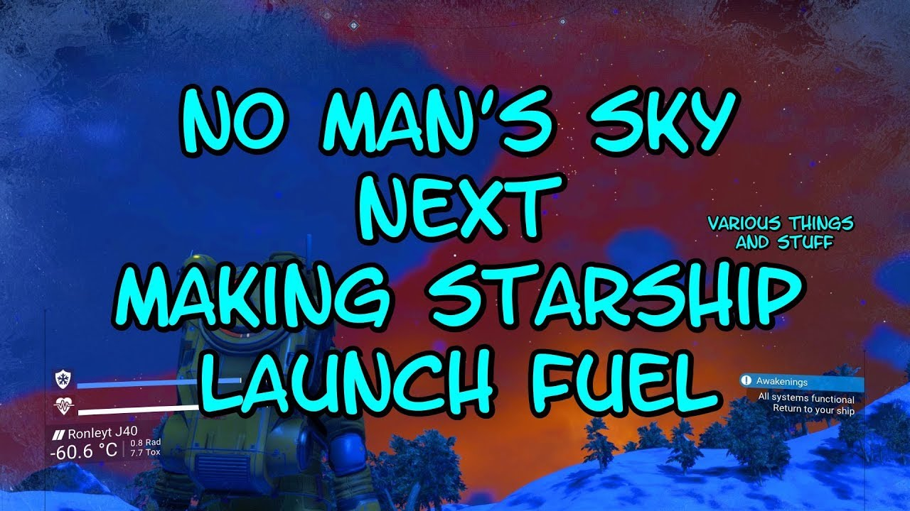 No Mans Sky Review 2020.No Man S Sky Next Making Starship Launch Fuel