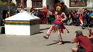 Durdag (skeleton dance) The Lord of cremation ground dance of Tibetan Buddhism in Ladakh India.