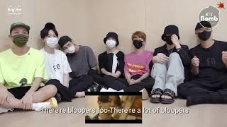 BTS Reaction on DYNAMITE M/V (B-side).  Sub-English
